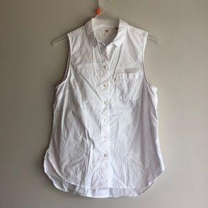 Vintage Levi's white button up sleeveless blouse